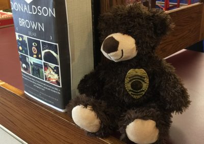 The Donaldson Brown Bear, a stuffed toy, is the unofficial mascot of the Graduate Life Center
