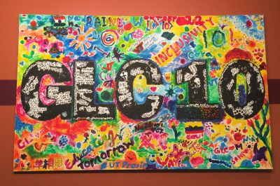 Original art created by students and others to celebrate the Graduate Life Center's 10th anniversary
