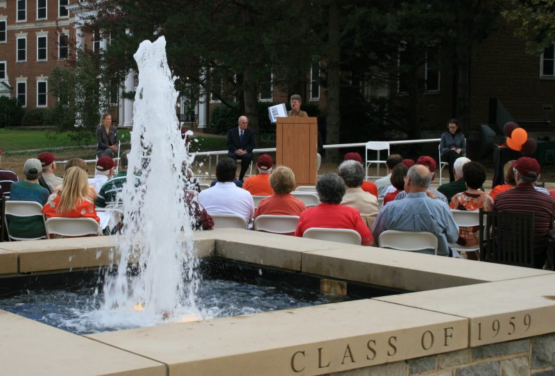 The dedication of the Graduate Life Center Plaza and fountain